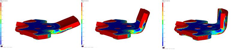 Illustration einer Machbarkeitsanalyse eines Lappens an Bauteil Planetenträger